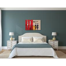 Canvas Individual Siluetas Abstractas