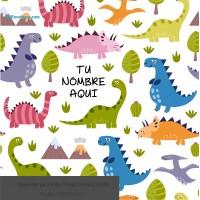 Infantil Fondo Dinosaurios de Colores