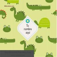 Envoltura Infantiles Animalitos verdes