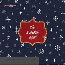 Navidad envoltura fondo  azul con estrellas de fondo