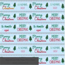 Navidad envoltura fondo  azul con pinos