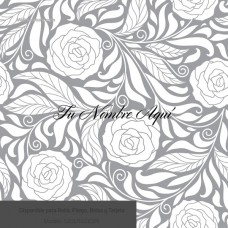Envoltura Elegante Rosas escala de grises