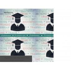 Envoltura para Graduación - Fondo verde claro