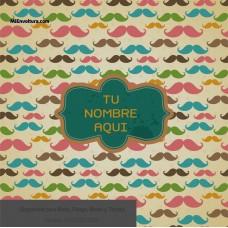 Envoltura  Social con diseño moderno de fondo de bigotes mustache