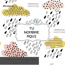 Envoltura  Social con diseño de nubes y lluvia